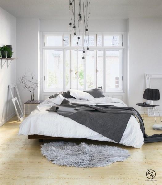 scandinavian bedroom design grey Scandinavian Bedrooms: Ideas And Inspiration