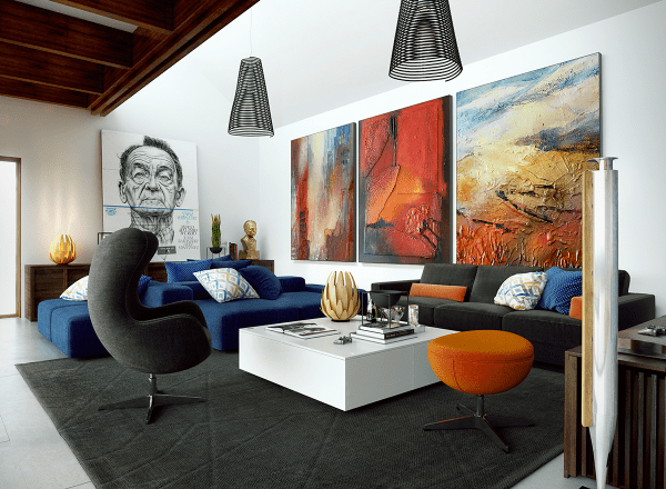 Large Wall Art Ideas for Living Rooms