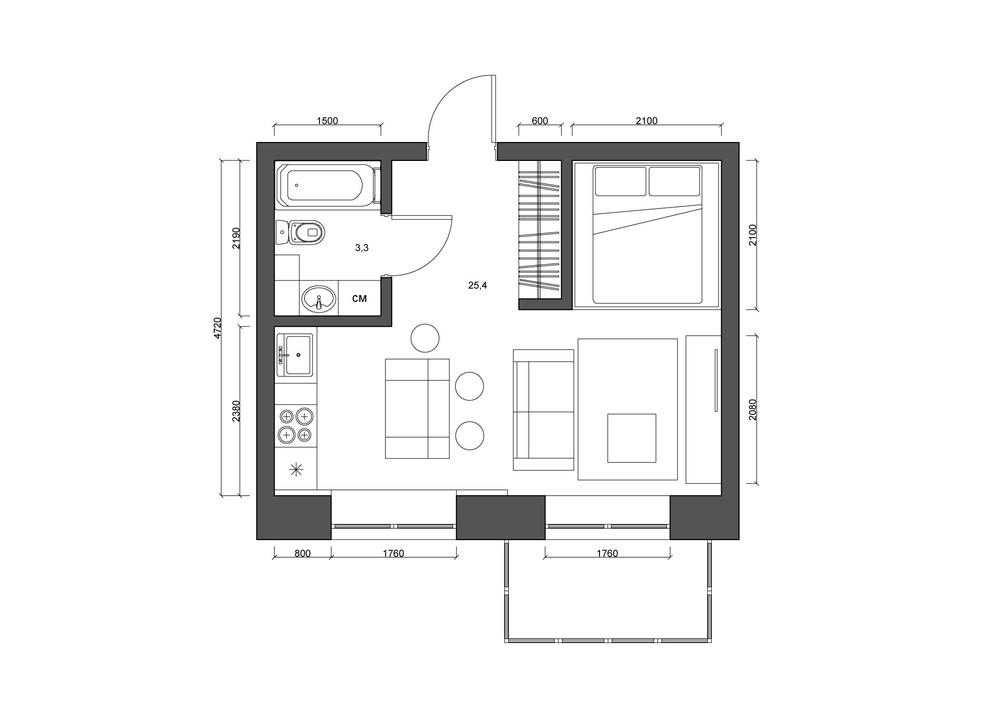 Efficiency Apartment Floor Plan Ideas
