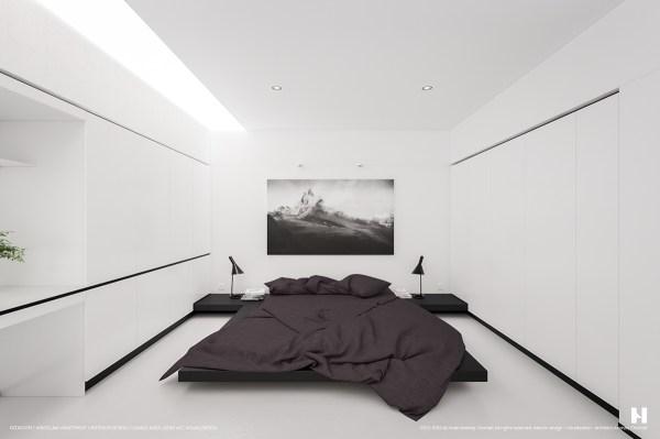 black and white minimalist bedroom ideas 6 Perfectly Minimalistic Black And White Interiors
