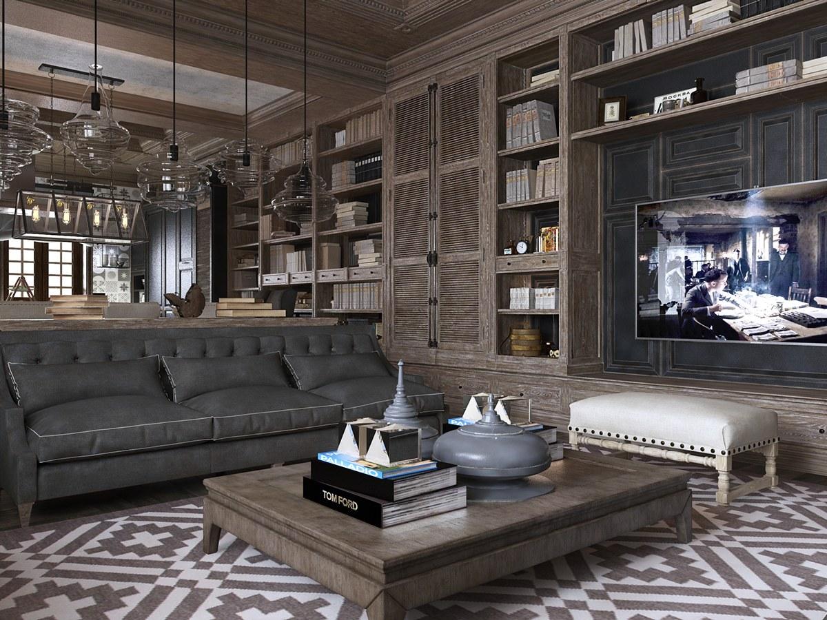 caracter sticas neocl sicos y art deco en dos lujosos interiores. Black Bedroom Furniture Sets. Home Design Ideas