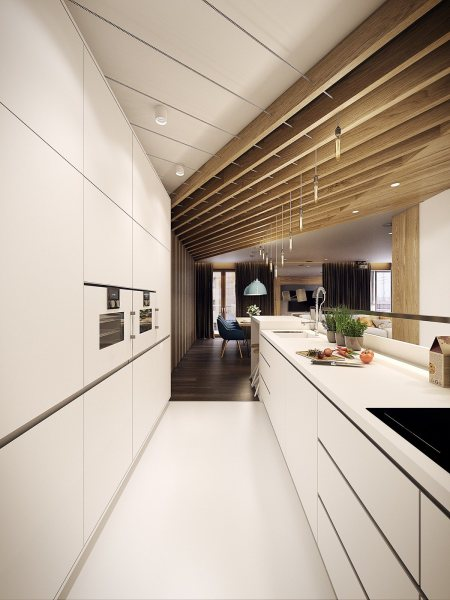 modern architecture kitchen Dramatic Interior Architecture Meets Elegant Decor in