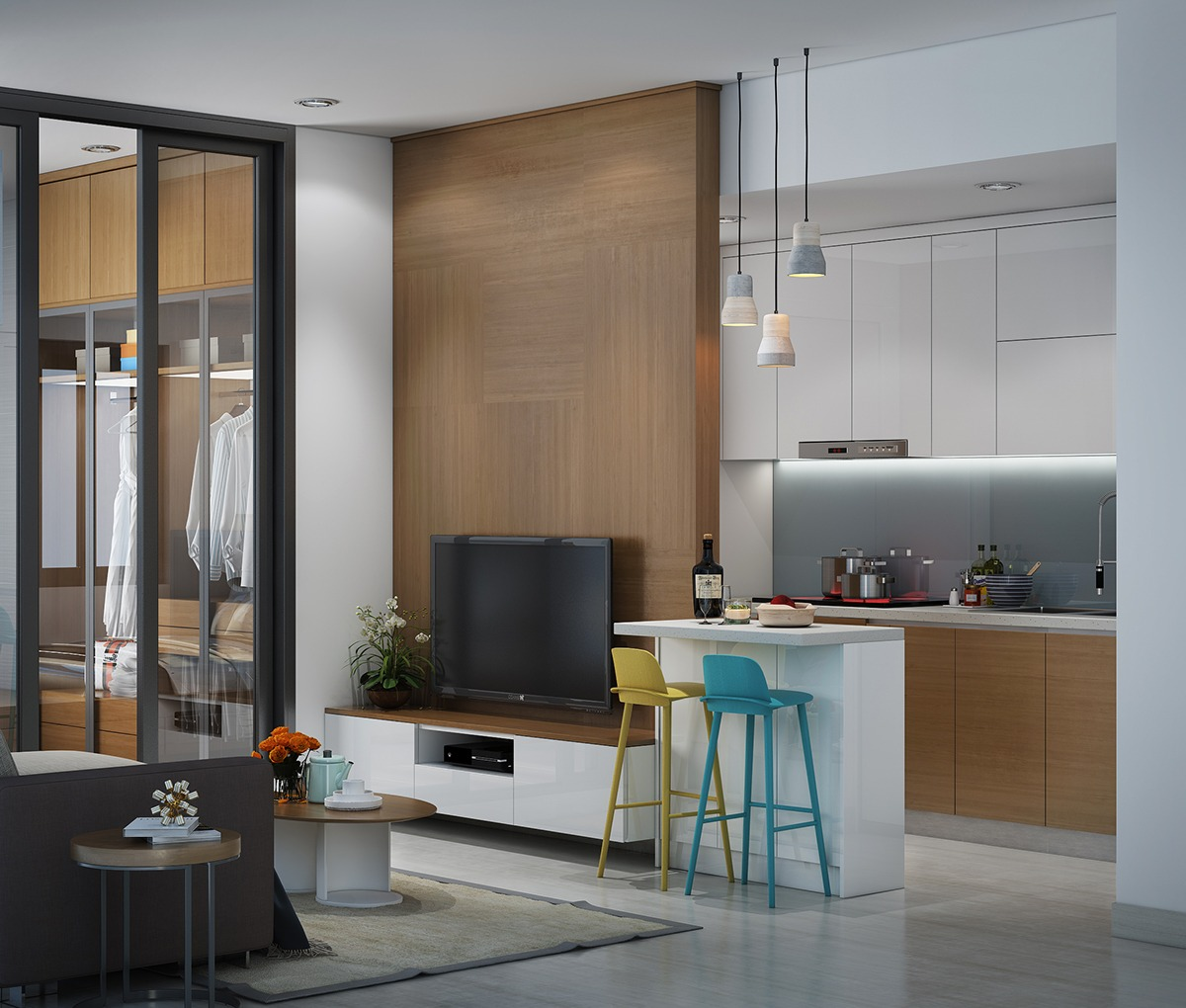 5 Stylish Amp Organized Mini Apartments