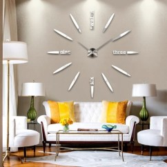 Living Room Wall Clocks Tartan Curtains Ideas 30 Large That Don T Compromise On Style