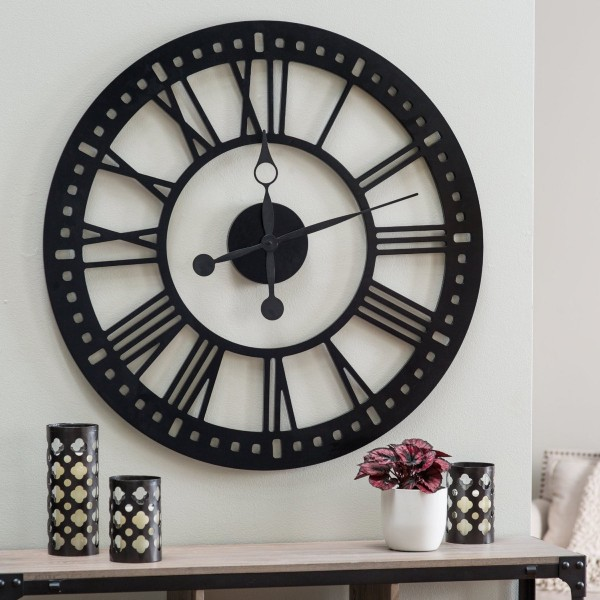 big wall clocks for living room contemporary chairs 30 large that don t compromise on style