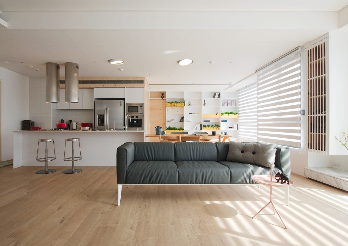 Interior Design On A Budget Minimalist Living Room And Kitchen Decor With  Natural Lighting