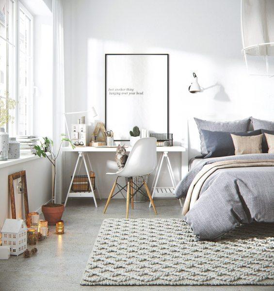 scandinavian bedroom design grey Bright and Cheerful: 5 Beautiful Scandinavian-Inspired