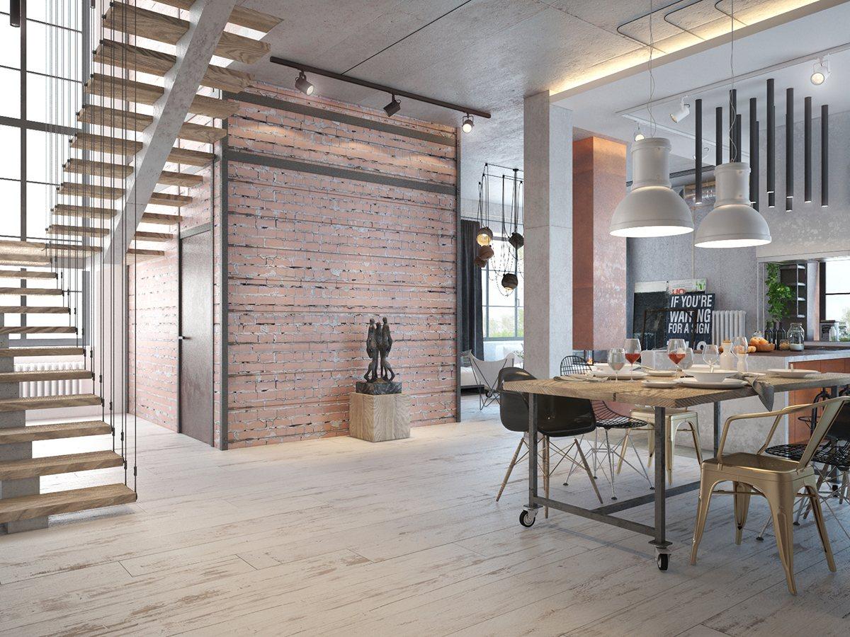 Industrial Home Interior Design & Industrial Home Design - Vtwctr