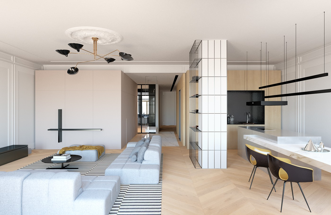 Modern Decor Meets Classical Features in Two Transitional Home Designs