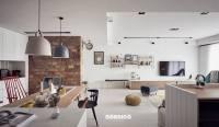 brick accent wall in nordic interior | Interior Design Ideas.