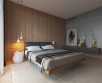 cantilever bed floating effect | Interior Design Ideas.