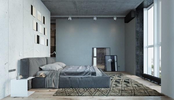 industrial grey bedroom Grey Bedrooms: Ideas To Rock A Great Grey Theme