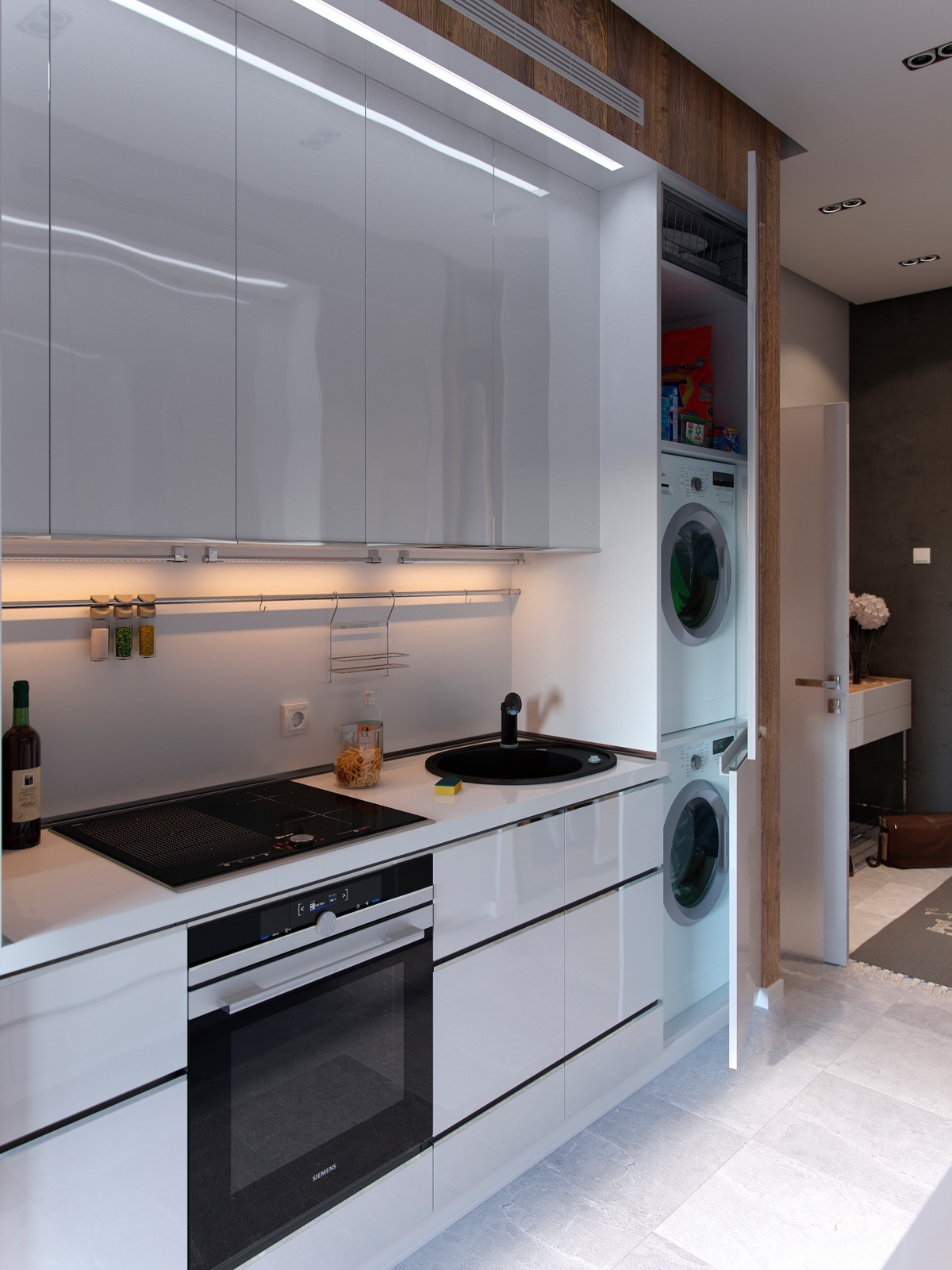 Laundry Room Kitchen Combination