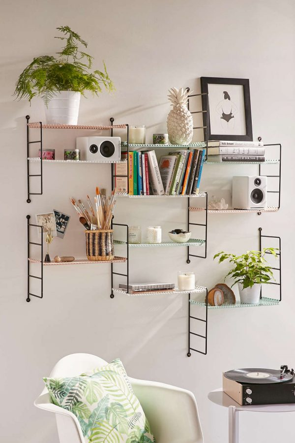shelving for living room walls decorating ideas small rooms with fireplace 31 unique wall shelves that make storage look beautiful buy it