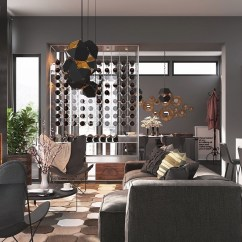 Can You Put A Wine Rack In Living Room With Leather Furniture Storage At Home