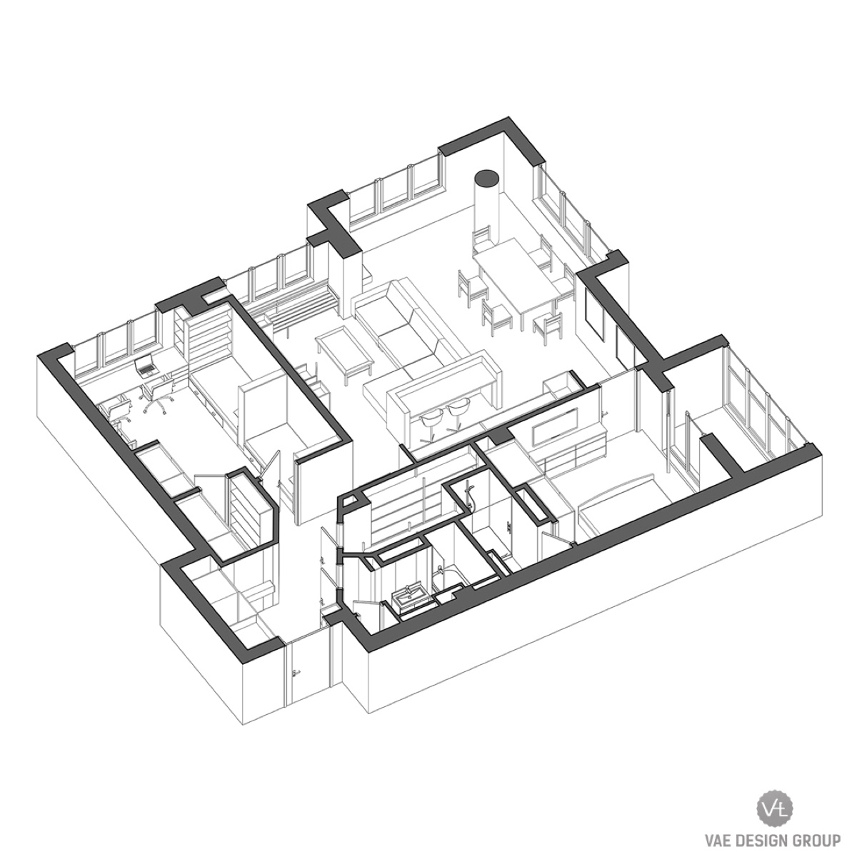 2 Modern Apartments Under Square Feet Area For Young