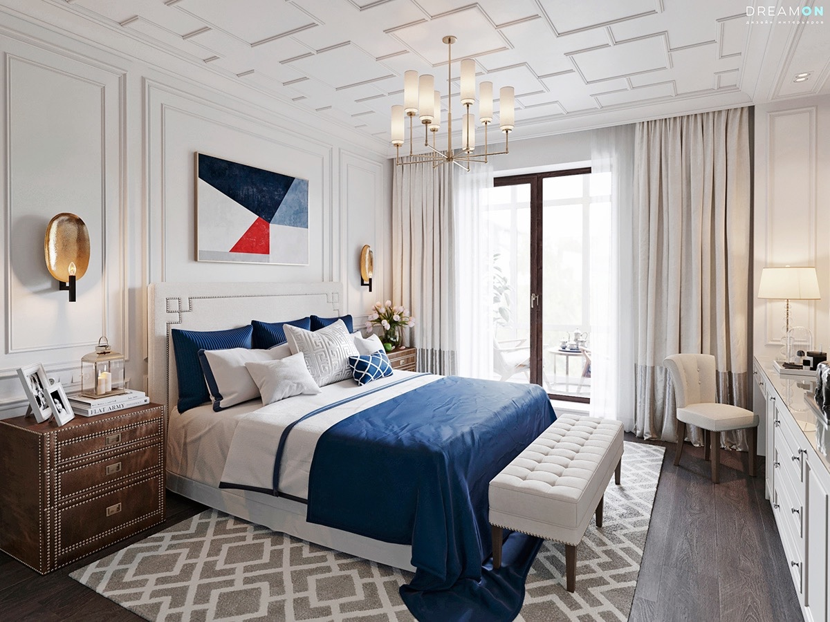 Masculine Light Bedrooms And Grey Blue