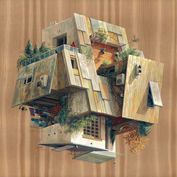 Surreal Architectural Illustrations By Cinta Vidal Agull