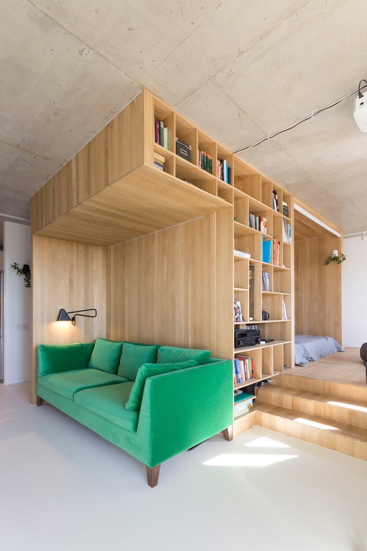 Super Small Studio Apartment Under 50 Square Meters Includes Floor Plan