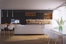 Modern Kitchen Design Unconventional Geometry