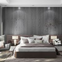 Gorgeous Grey Widescreen Bedroom Interior Design Grey Of Tropical Laptop Hd Pics Brown And Feature Wall Ideas