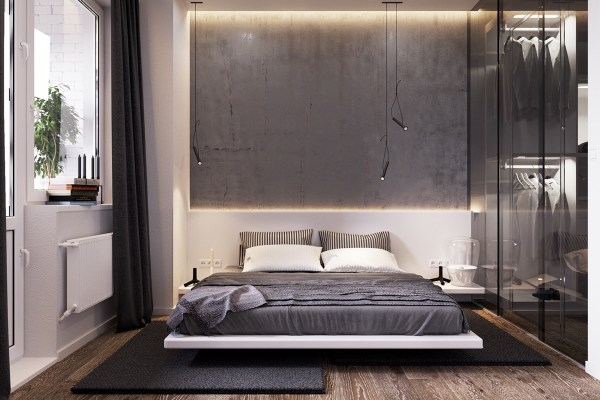 industrial grey bedroom 42 Gorgeous Grey Bedrooms
