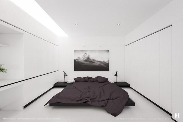 black and white minimalist bedroom ideas 40 Beautiful Black & White Bedroom Designs