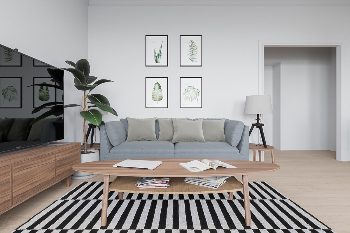 small wooden sofa dfs leather corner bed six scandinavian interiors that make the lived-in look ...