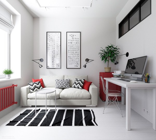 3 Small Apartments Rock Uncommon Color Schemes With
