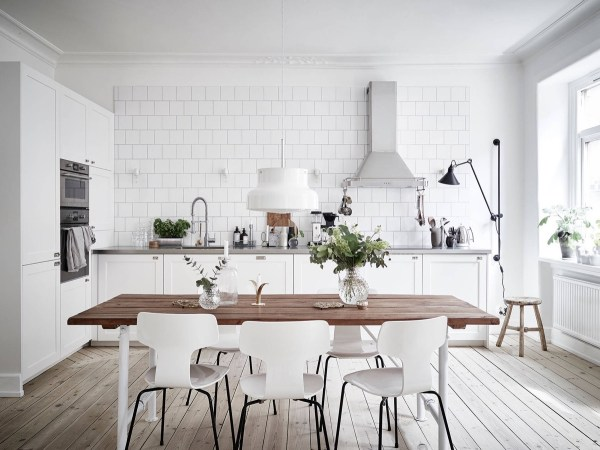 scandinavian white kitchen Scandinavian Kitchens: Ideas & Inspiration