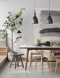 Simplistic asian dining room strokes of grey paintingg urban apartments pinterest interiors and also rh