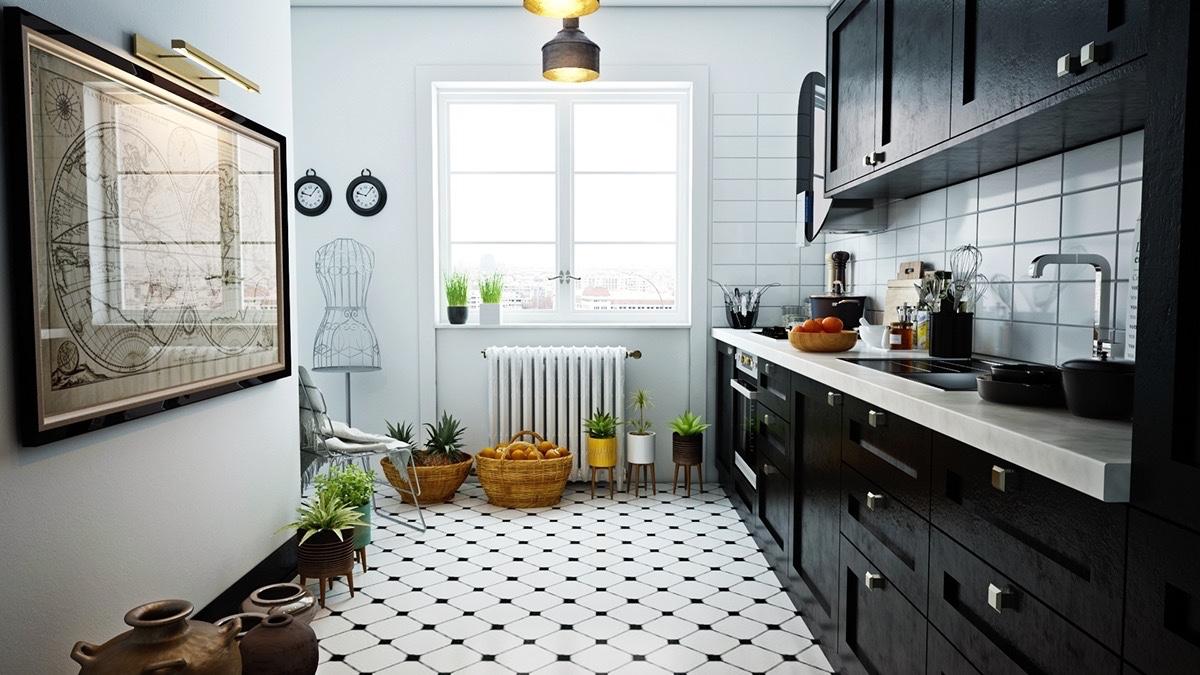 40 Beautiful Black & White Kitchen Designs