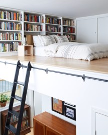 Small Apartment Bedroom with Loft Bed Ideas
