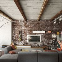 Rustic Wooden Beams Indoor Brick Wall Full Hd Interior Design Ideas Exposed Brick Of Androids Pics Feature Living Room Decoration With