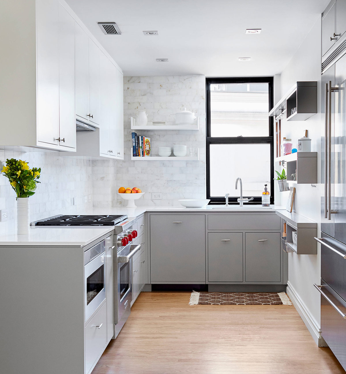 white appliances kitchen cheap gadgets 30 gorgeous grey and kitchens that get their mix right