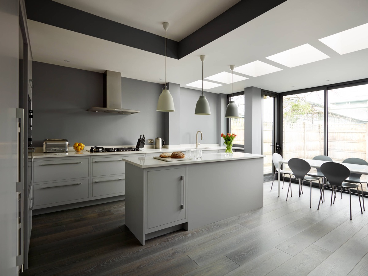 Best Kitchen Gallery: 30 Gorgeous Grey And White Kitchens That Get Their Mix Right of Kitchen With Gray Floors on cal-ite.com