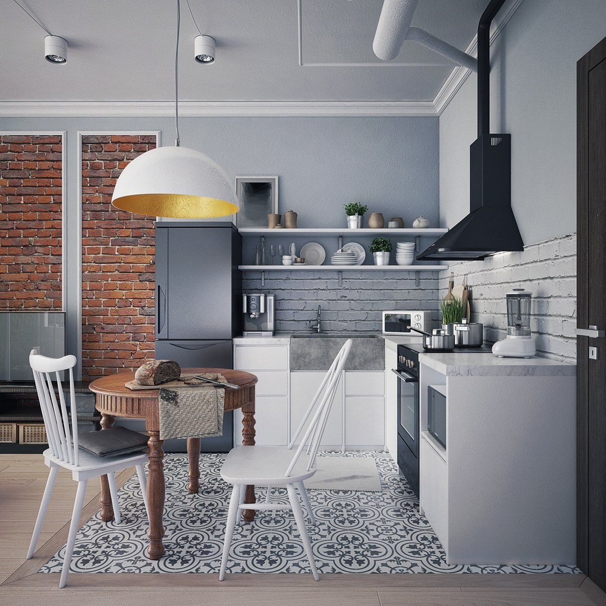 round black kitchen table island pottery barn 4 first home interior ideas with a scandinavian twist