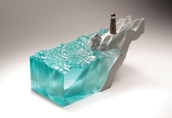 Ben Young Glass Sculpture Ocean