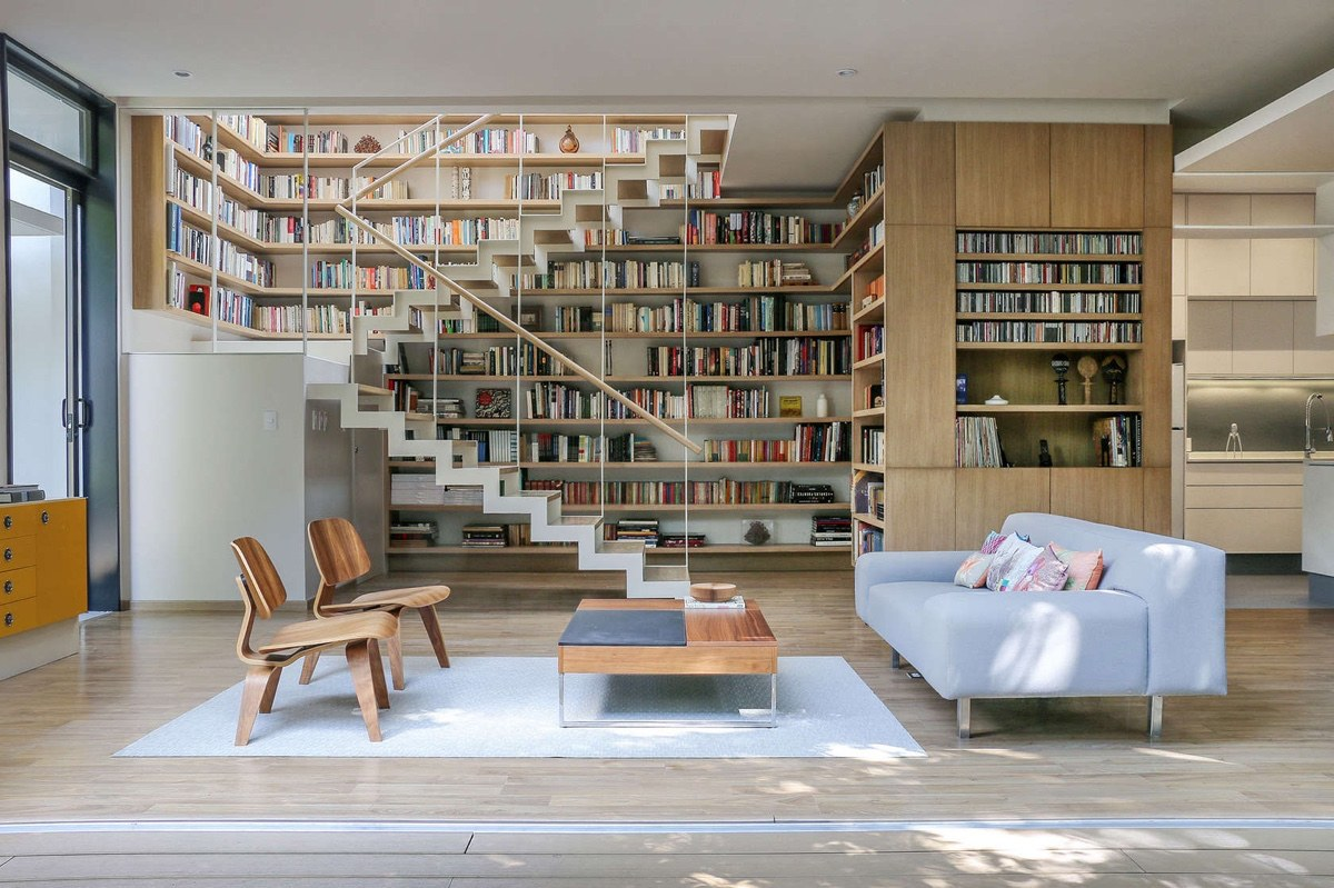 A Book Lovers Dream House With Great Nature Views