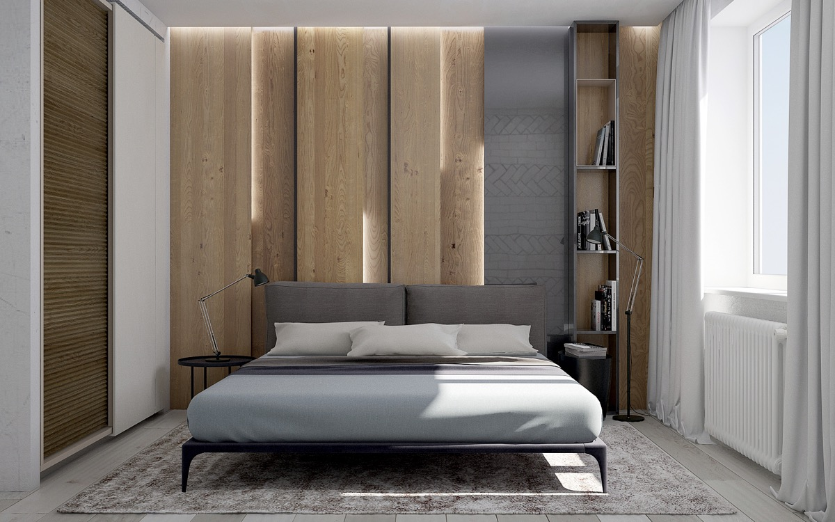 Wooden Wall Designs: 30 Striking Bedrooms That Use The