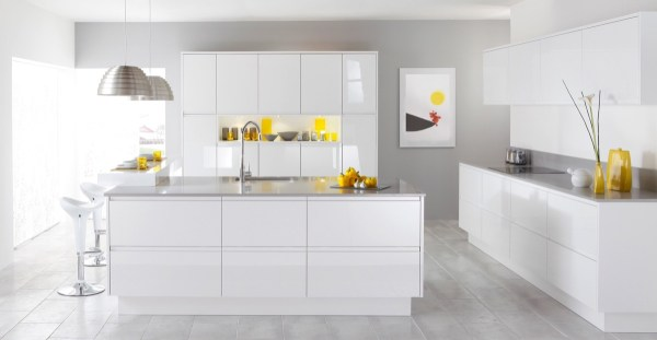 modern white kitchen cabinets 30 Modern White Kitchens That Exemplify Refinement