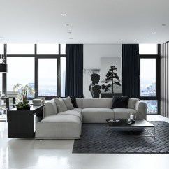 Black And White Themed Living Room Ideas Blue Couch Decor 30 Rooms That Work Their Monochrome Magic