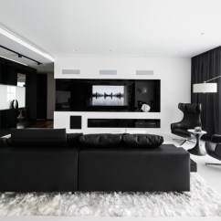 Design Ideas For Black And White Living Room Brown Orange 30 Rooms That Work Their Monochrome Magic 14 Designer Geometrix