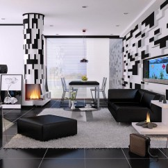 Living Room Pictures Black And White Sectional Sofas For Small Rooms 30 That Work Their Monochrome Magic 16