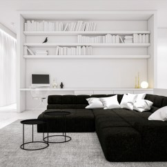Dark Grey And White Living Room Ideas Decor 30 Black Rooms That Work Their Monochrome Magic 13