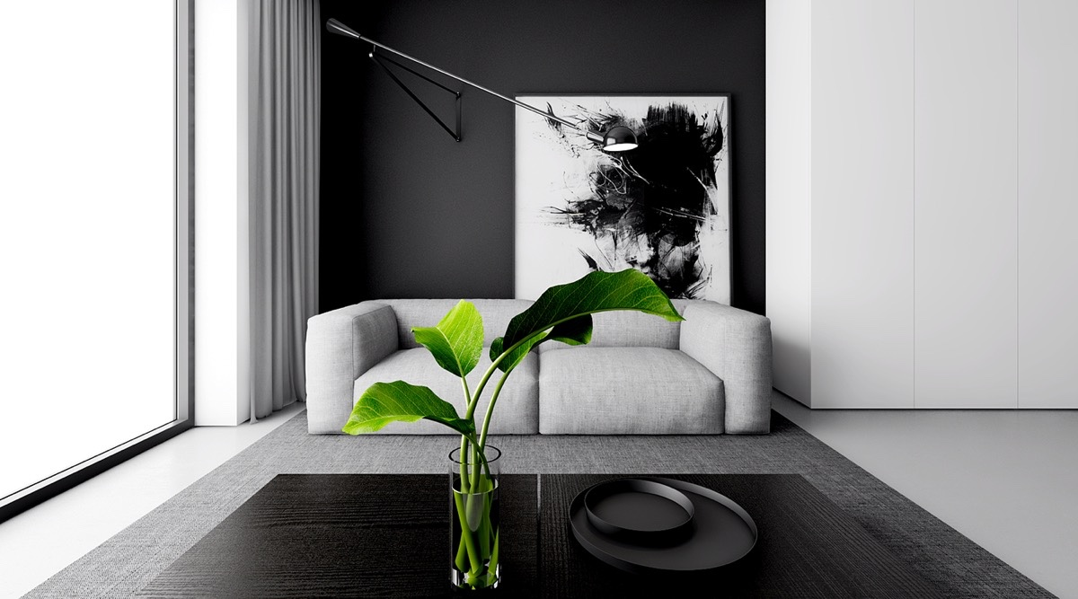 paint ideas for living room with black furniture plants 30 white rooms that work their monochrome magic