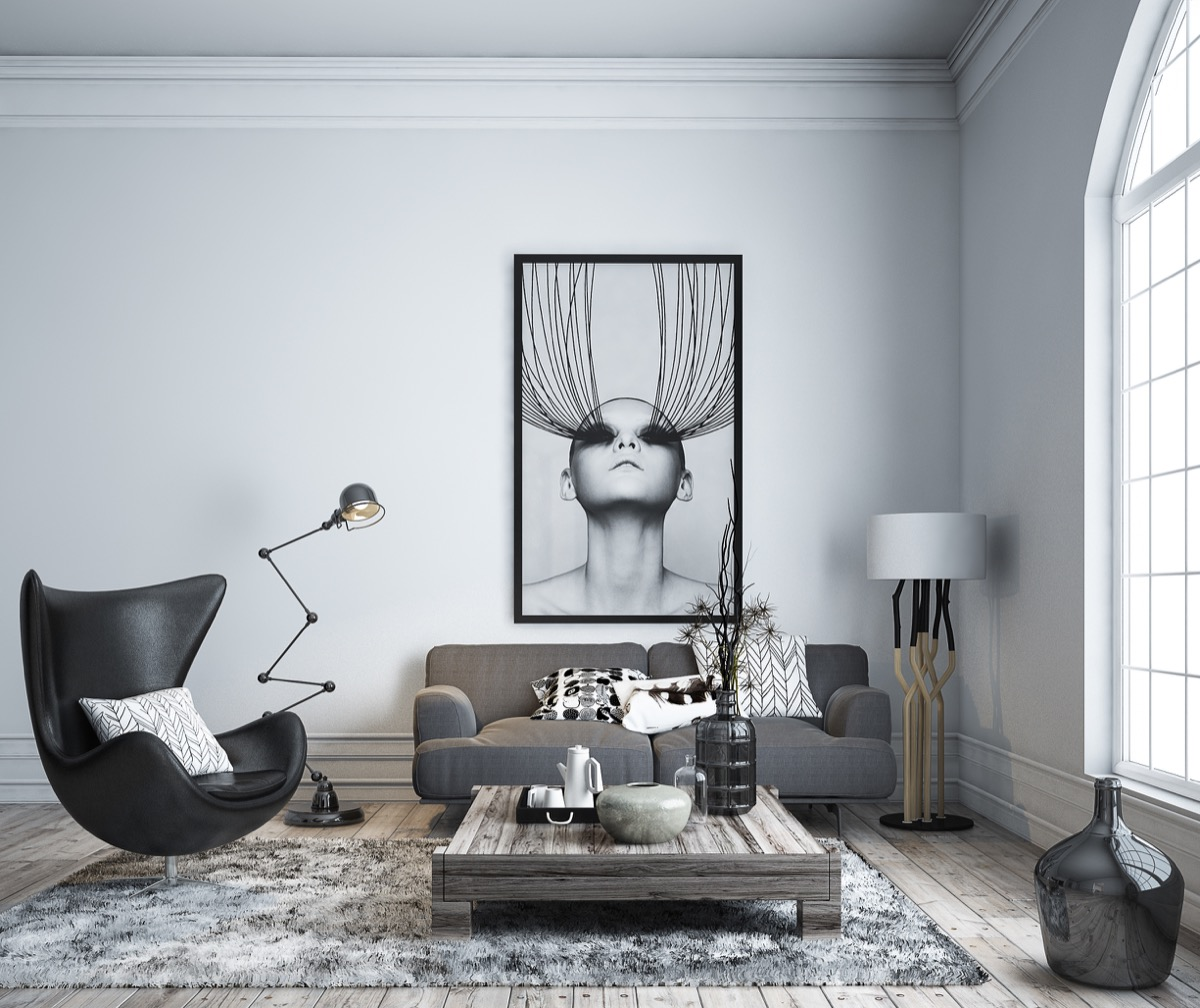 Black Living Room Chair 30 Black And White Living Rooms That Work Their Monochrome Magic