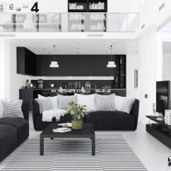 Living Room Pictures Black And White Lamp For 30 Rooms That Work Their Monochrome Magic 1 Visualizer Ahmed Alsayed The First