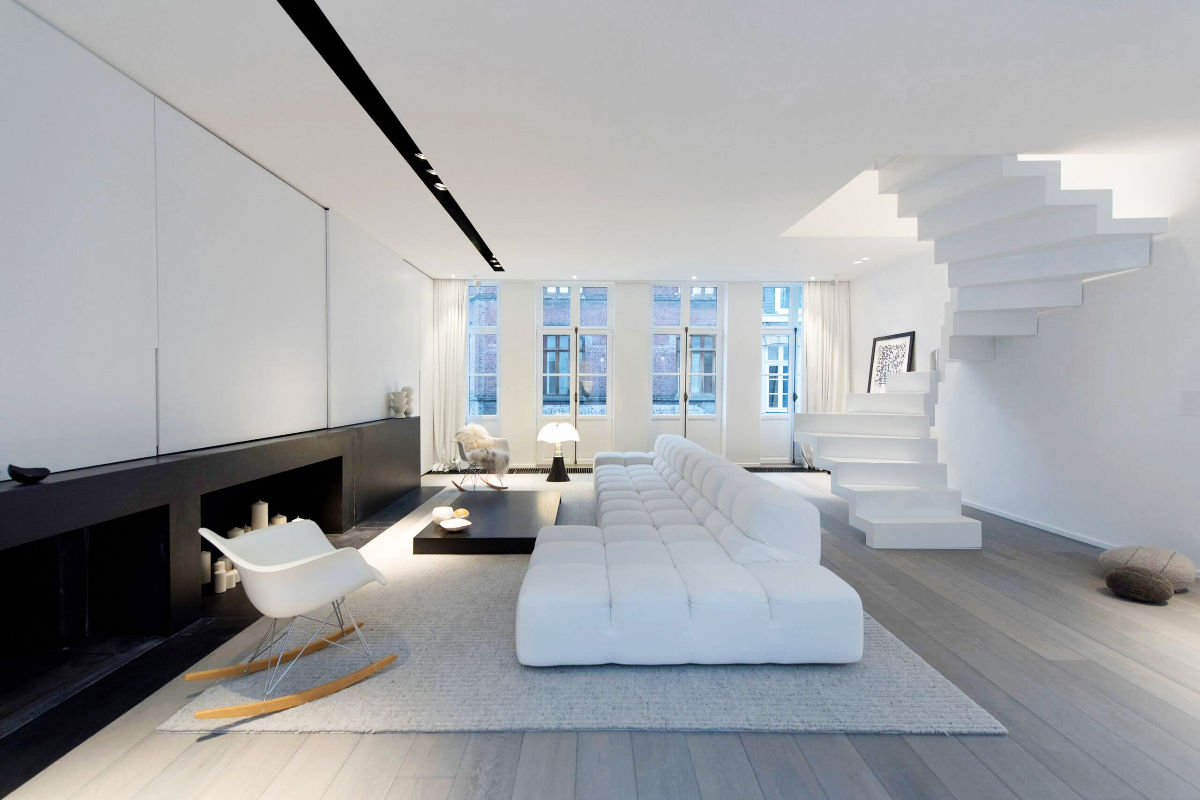 modern white living room furniture pictures for walls 30 black rooms that work their monochrome magic 4 designer mayelle
