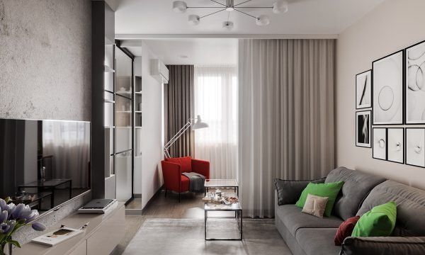 3 Modern Studio Apartments With Glass-Walled Bedrooms ...